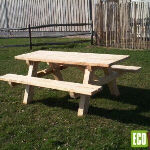Eiken picknicktafel bos