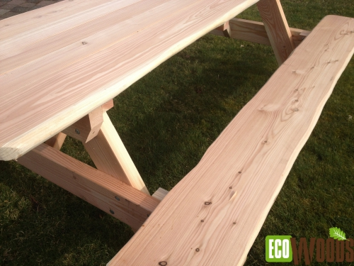 Picknicktafel XL Natuur (opklapbaar)