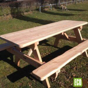 Eiken picknicktafel Natuur