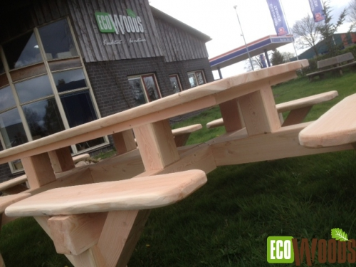 Rechthoekige picknicktafel de Veluwe
