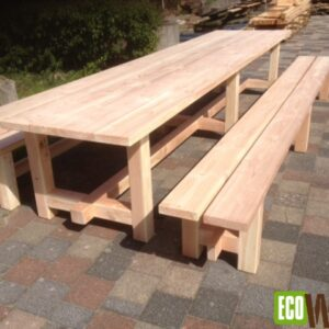 Picknicktafel met losse banken