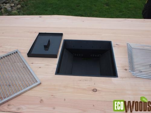 Inbouw BBQ houtskool of gas onderdelen